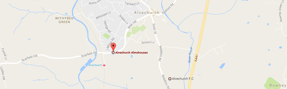 Alvechurch Almshouses location